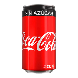 Coca Cola sin Azucar 235ml.