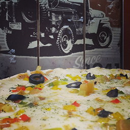 Pizza familiar 35 cm dos sabores