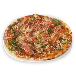 Pizza jamon serrano novato