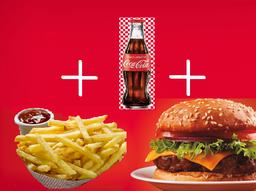 Combo Hamburguesa + Papas + Gaseosa/jugo hit/botella de agua