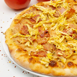 Pizza grande miel mostaza