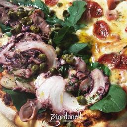 Pizza Polpo, Rucola E Capperi