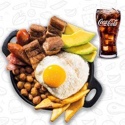 Frijolada+ coca cola