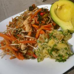 Almuerzo Fit Verduras Teriyaki