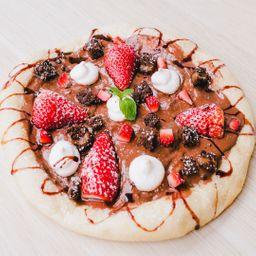 Pizza Nutella y Fresa