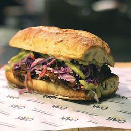 Sándwich De Pulled Pork Ahumado