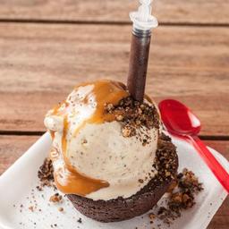 Brownie de Chocolate con Gelato!