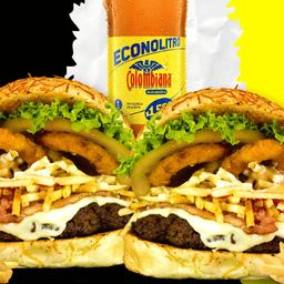 Combo burger chips