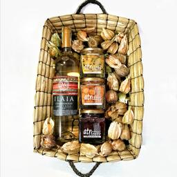 Canasto Fúquene con Vino Chardonnay Confituras De Mango Y Gulupa