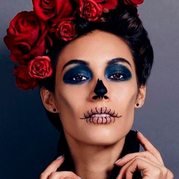 Maquillaje básico de Catrina