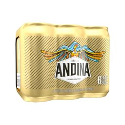 Sixpack Cerveza Lata Andina 1 U