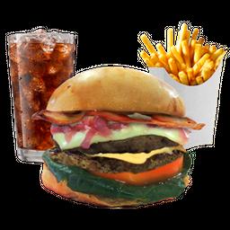 Combo Rocky II Double Cheeseburger -n- Bacon