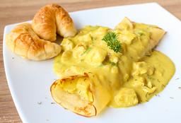 Crepe de Pollo al Curry