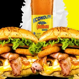 Combo burger 3 tocinetas