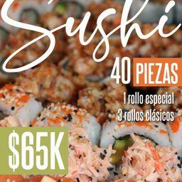 Combo Sushi x 40 Piezas