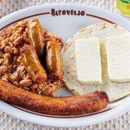 Calentado con Chorizo
