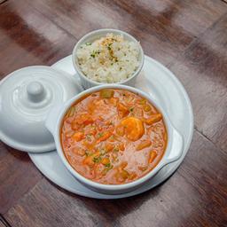 Sopa Gumbo de Camarones y Chorizo