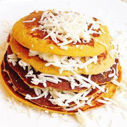 Pancakes con queso costeño