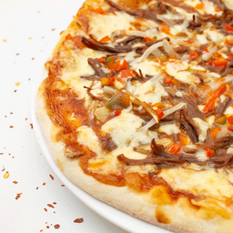Pizza personal carnes bbq