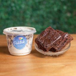 Helado de Brownie