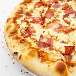 Pizza gigante carbonara