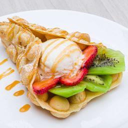 Bubble Waffle Fresas Kiwi
