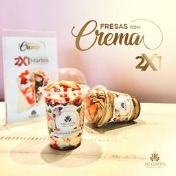 Fresas con Crema X2 Chococrema