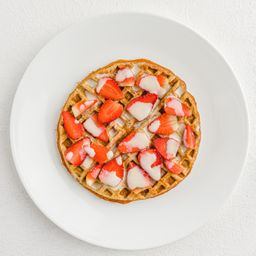Waffle fit con fresas