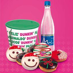 Combo Navideño! 8 Donuts + 1 Agua Manantial = 1 Bowl Gratis!