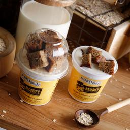 Monkey Break: Yogurt Orgánico + Trozos de Torta