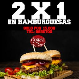 2x1 Hamburguesa Cerdo y Carne