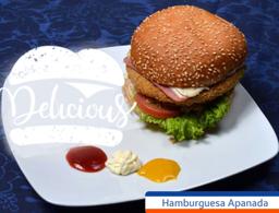 Hamburguesa Apanada