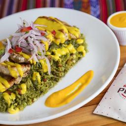 Menú Arroz Con Pollo & Salsa Huancaina