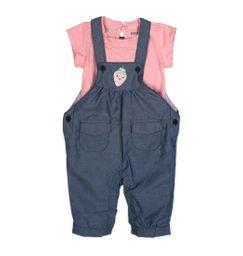 Set overol y camiseta manga corta - bebés 6-9m