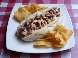 """Hot Dog """"The Colombian"""" + Papas"""