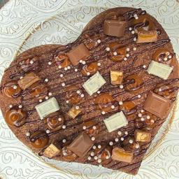 Corazón de Brownie