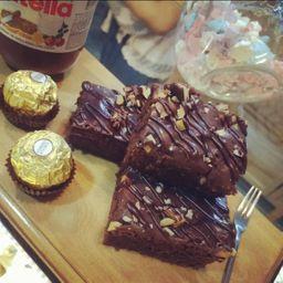 Brownie de Ferrero Rocher