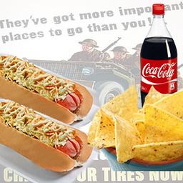 Combo 2 Perros Americanos Nachos