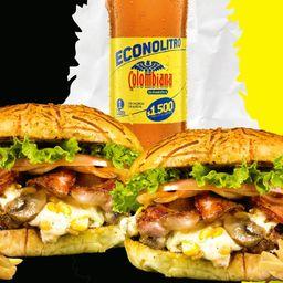 Combo burger champi maiz