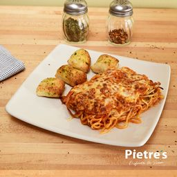 Spaguetti Especial ( Pollo,Champiñon, Jamon)