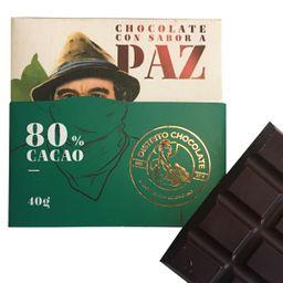 Barra de Chocolate 80 % 40 Gr