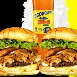 Combo burger porky
