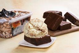 Litro Helado con Brownies