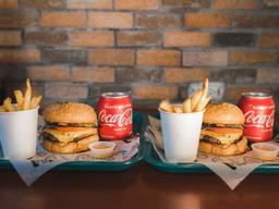 2 Local Cheese Burger en Combo