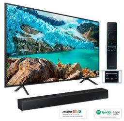 Tv Samsung 55 Uhd 4k Smart Tv + Barra De Sonido + Spotify