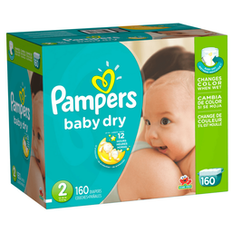 Pañales Desechables Pampers Baby Dry Talla 2 160 Unidades