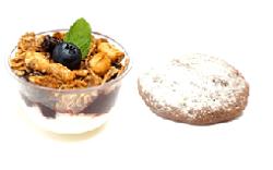 Mini Parfait fruto rojos + Galleta Brownei