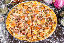 Pizza Mediana (30 cms) Mix de Carnes