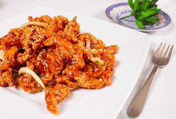 Pollo con salsa de Ajonjolí