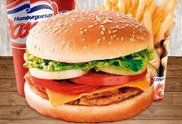 Combo Hamburguesa Pollo Americano